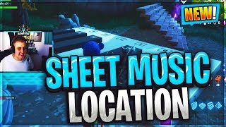 """""""Play the sheet music at the piano near Pleasant Park"""" LOCATION WEEK 6 CHALLENGES Fortnite Season 6"""