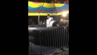 Funny mechanical bull ride