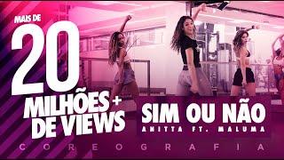 Sim Ou Não - Anitta Ft. Maluma - Coreografia |  FitDance - 4k