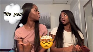 WHOS MOST LIKELY TO ft MY TWIN SISTER!!! (FUNNY VERSION)