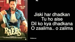hindi song lyrics  O  Zaalima