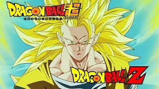 """""""The Final Death-Match"""" (Ultra Instinct theme) over Goku going Super Saiyan 3 for the first time"""