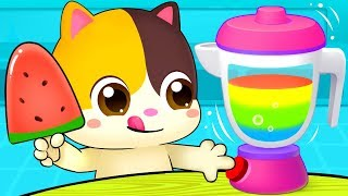 Rainbow Ice Pop - Colors Song | Vegetables Song | Learn Colors | Nursery Rhymes | Kids Songs|BabyBus