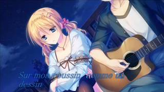 Nightcore-Moi Aimer Toi { Cover by Aöme } 【Lyrics 】