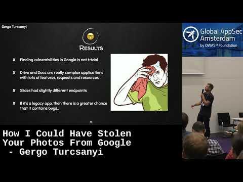 How I Could Have Stolen Your Photos From Google - Gergo Turcsanyi