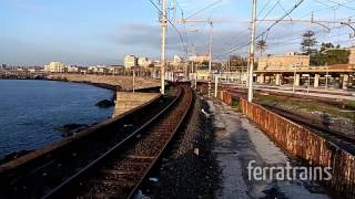 Catania metro train Firema M.88 approaching station