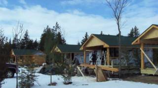 Construction of Medium Cabins with Bathrooms at Mackinaw Mill Creek Camping - YouTube