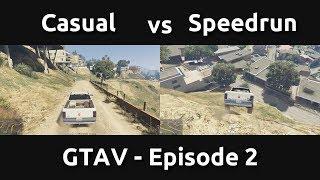 Casual VS Speedrun in GTAV #2 - Knowing Where to Go