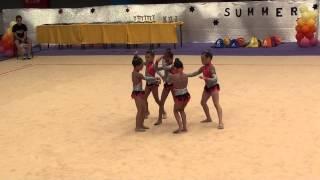 Ginástica Rítmica - Summer Camp 2013 - CRC - Conjuntos - Movimentos Livres
