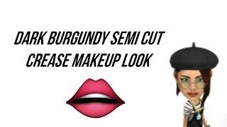 dark burgundy semi cut crease makeup look || annastasia