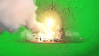 Rocket Blast Green Screen Effect