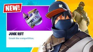 New JUNK RIFT and SHOT CALLER Item Shop Skin! (Fortnite Battle Royale)