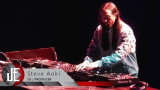 Steve Aoki en su presentación en la ciudad de Puebla