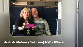 Amtrak Meteor Train Bedroom Sleeper Car Tour