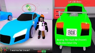 I WANNA BE TRACER!   ROBLOX MAD CITY BUYING THE TRACER!