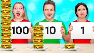 24 HOUR FOOD CHALLENGE #2    How to Sneak Food by 123 GO! SCHOOL