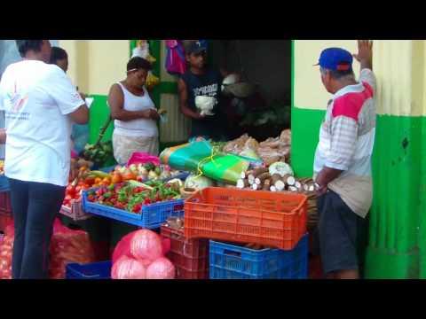 A walk through a street of markets in Bluefields, Nicaragua, 2011