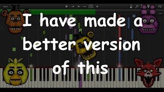 Five Nights at Freddy's Song MIDI re-creation (Synthesia)
