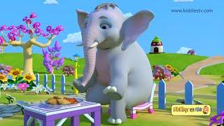 Hathi Raja kahan chale | हाथी राजा कहाँ चले  | hindi rhyme | hindi baby songs | kiddiestv hindi