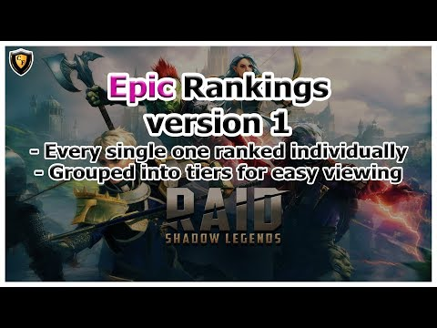 RAID Shadow Legends | Epic Rankings Tier List | Version 1