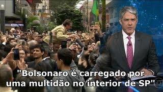 INÉDITO - JN mostra Bolsonaro carregado por uma multidão no interior de São Paulo.