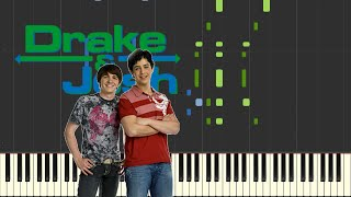 Drake & Josh Opening - I Found A Way (TV Size) [Piano Tutorial](Synthesia)