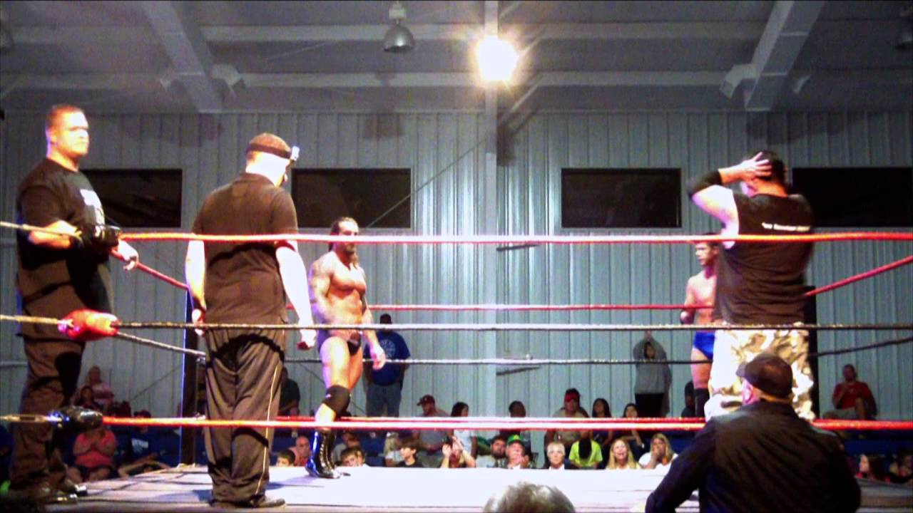 NLW Fight For Freedom II Stud Stable C-4 & The Equalizer VS Garrett Sinclair & TNA Superstar Gunner