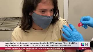 Ensayos clínicos de Pfizer demostrarían eficacia de 95% en niños de 5-11