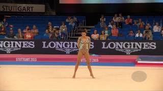 FILIOU Varvara (GRE) – 2015 Rhythmic Worlds, Stuttgart (GER), Qualifications Hoop