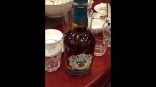 Opening a bottle of the Chivas Regal Mizunara Cask Blended Whisky