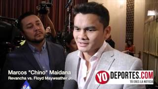Marcos Maidana en Chicago habla sobre su pelea de revancha contra Floyd Mayweather Jr.