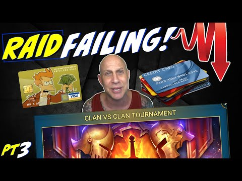 Clan vs Clan wars! What it's REALLY ABOUT. pt3 Raid Shadow Legends downward spiral