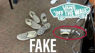 HOW TO TELL IF SOMEONE IS WEARING FAKE VANS!!