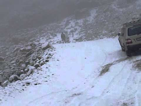 Getting stuck in snow @ Sani Pass, Lesotho-South Africa border