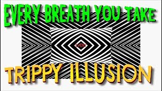 EVERY BREATH YOU TAKE - The Police - 'Trippy' motion lyric video - Optical Illusion effects.