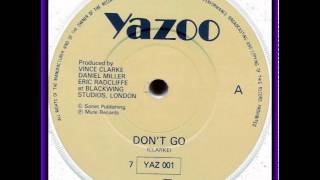 YAZOO-DONT GO ( ACAPELLA)