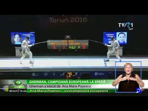 Simona Gherman şi Ana Maria Popescu, aur şi argint la Europenele de scrimă