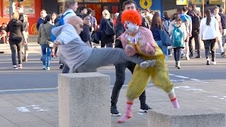 Ronald McDonald Fights Grandpa!