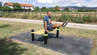 L-Sit - Street Workout Park - Chaves - Portugal