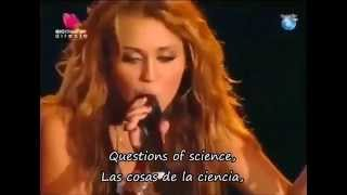 Miley Cyrus - The Scientist (cover) (Letra Inglés - Español) (Lyrics English - Spanish)