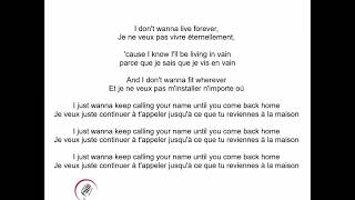 I don't wanna live forever - Zayn feat. Taylor Swift (Paroles, lyrics, traduction FR)
