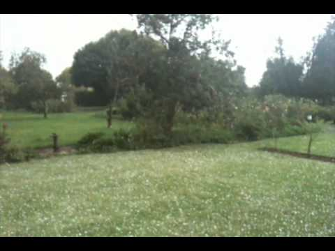 Hailstorm in Himeville