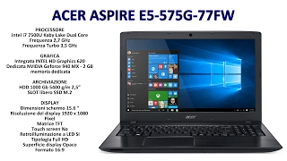 acer E5-575G-77FW upgrade ssd M.2 Gaming test