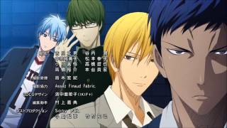 "Kuroko No Basuke Ending Song 1 HD ""Start It Right Away"""