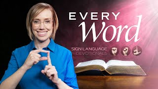 Every Word in ASL - God's Grace