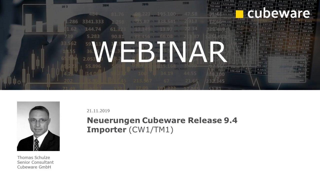 Neuerungen in Cubeware Release 9.4 - Importer (CW1/TM1)