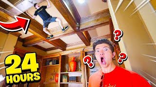 SNEAKING INTO PRESTON'S HOUSE FOR 24 HOURS...