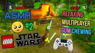 ASMR Gaming 😃 LEGO Star Wars Complete Saga #2 Relaxing Gum Chewing 🎮🎧 Controller Sounds 😴💤