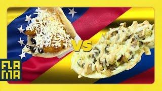 Venezuela vs. Colombia: Arepas