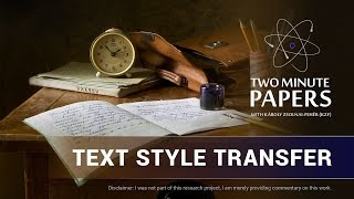 Text Style Transfer | Two Minute Papers #121